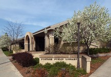 Exterior voew of the Portage Public Library